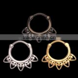Fashion Designed Free Sample Toothed Shape Septum Nose Rings Jewelry