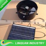 Cost -effective 12W Solar gable fan with inbuilt solar battery