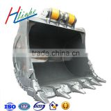 Custom construction bucket for excavator and crane
