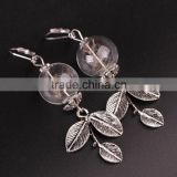Bohemian Silver Real Dandelion Seed Drop Earring For Women Glass Ball Long Earrings Orecchini Earrings For Women Gift