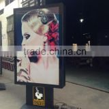 Wholesale aluminum alloy frame light box billboard double sides scrolling for advertising
