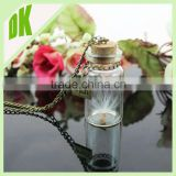 -~ art - Science Jewelry - Vintage Glass Bottle / Collectibles Clear Glass Bottle / mini empty glass bottle pendant for jewelry