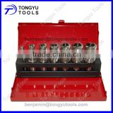 14~24mm, 7PCS HSS M2 broach cutter set in metal case