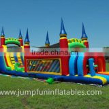China Inflatable Factory Bouncy House with Obstacle course,Inflatable Slide Jumping Castle
