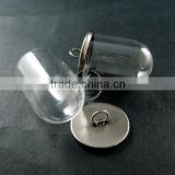 25x35mm antiqued silver plated cover glass tube bottle dome pendant charm settings jewelry findings supplies 1830043