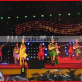 rental stage concert background setting advertising led flex curtain curve display screen for indoor outdoor use