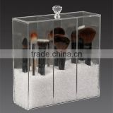 Wholesale High Quality Custom Acrylic Brush Holder With Lid