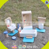 Wholesale cheap baby wooden dollhouse furniture pretend play kids wooden dollhouse furniture W06B054-S