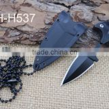 New design small mini hunting knife with plastic sheath