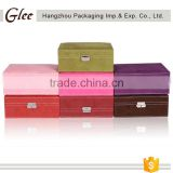 Hot-sale high quality handmade high-end luxury custom logo leather jewellery box with compartments