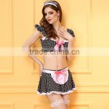 Women's Sexy Dot Maid Uniform Costume Set TI8016