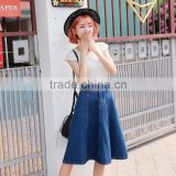 Wholesale Latest Fashion Design Long Blue Jeans Skirts For Women