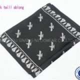 Lady's Customized 14mm Silk Satin Twill Chiffon Company Airline Bank Square Or Oblong Printed Soft Scarf