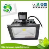 shenzhen factory Epistar high lumen 110lm/w pir motion sensor 30w led flood light
