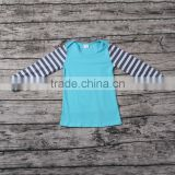 Pictures Of Latest Gowns Designs blue with black and white stripes raglan T-shirts cute long sleeve
