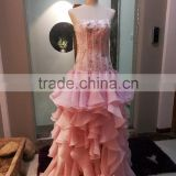 A-line Sweetheart Asymmetrical Taffeta with Beading Sash ball gown prom dress wedding dress P067