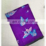 new arrival fashion colorful silk chiffon butterfly printed scarf