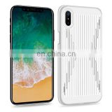 Storm Series Steel Disc PC Back Cover Case for iPhone X - White