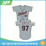 Wholesale custom short sleeve quick dry sublimation digital printing sewing pattern baseball jersey