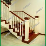 Shenzhen Yi Mei Deng supplies concrete foundation solid wooden staircase handrails