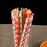Biodegradable Paper Straws with cute pattern for Concessions, Smoothies, Juice, Crafts, Party Supplies, Decorations