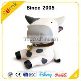 Made in china wholesale lucky money box plastic material cow shape money box