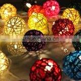 Rattan Ball String Lights,4M 40 LED, Christmas & Party String Lights (Multi-Color)