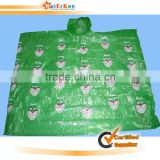 2015 The disposable PVC raincoat for outdoor work