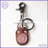 Stainless steel Pu bag keychain,key rings