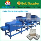 Compressed wood blocks machine from wood processing line