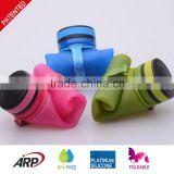 650ml flexible, collapsible, portalbe silicone water bottle with customer logo printing BPA free                                                                         Quality Choice