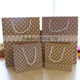 brown with window paper garbage bag flat bottom kraft paper bag