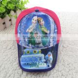 wholesale kids frozen fever printing hat frozen fever cap for children baseball cap anna and elsa sunhat
