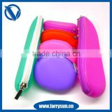 Cheap Price mini silicone rubber change purse colorful kids change purse
