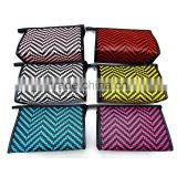 PU Leather Chevron Pattern Makeup Cosmetic Bag for Women
