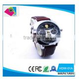 Fashion watch mini dv dvr HD 720P Waterproof leather Watch DVR spy camera digital hidden Camera HDW-01A