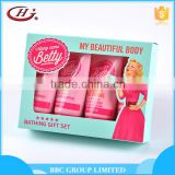 BBC Along Came Betty Gift Sets OEM 006 Promotional natural 3 pcs moisturizing organic baby shampoo