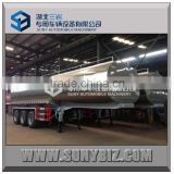 China factory 45 m3 304-2B Edible Grade Tank Trailer 3 Axle Trailer Stainless Steel Milk Tank Semi Trailer