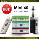 2016 hot selling Temp control 40w TC-J stabilized wood box mod from Neworld
