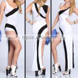 2014 black and white bandage evening dresses