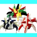 Novelty Jester Hat With Bells Colour Red Blue Or Multi Fancy Dress Olympics H029