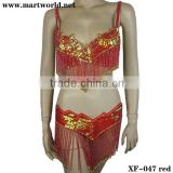 hot red bra and belt sets for women(XF-047 red)