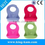 Soft Cute And BPA Free baby silicone bib beard bib