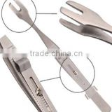 Tattoo Supplies Stainless Steel Multifunction Tweezers with Slide Lock Body Piercing Tools Free Shipping