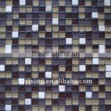 15GS027 frosted crystal stone mosaic tile for mosaic natural stone swimming pool tile,bathroom and kitchen wall tile