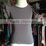Hot sale Double tank top for girls,Children's ruffle top&Shits,Mix color kids tank top