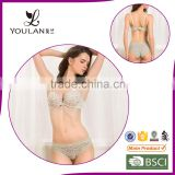Push Up Spandex Seamless Front Closure Bra & Brief Sets New Bra Panti Photo