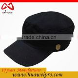 China Headwear Custom New Design Fashion Unisex Flat Roof Military Hat Oem Bush Hat Baseball Field Cap