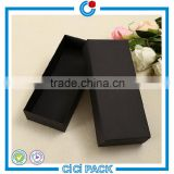 Black paperboard sock gift packing with custom logo                                                                                                         Supplier's Choice