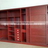 Wholesale Sliding wood china book cabinets used bookcase wall units